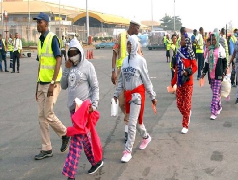 Illegal Migrants Deported to Nigeria
