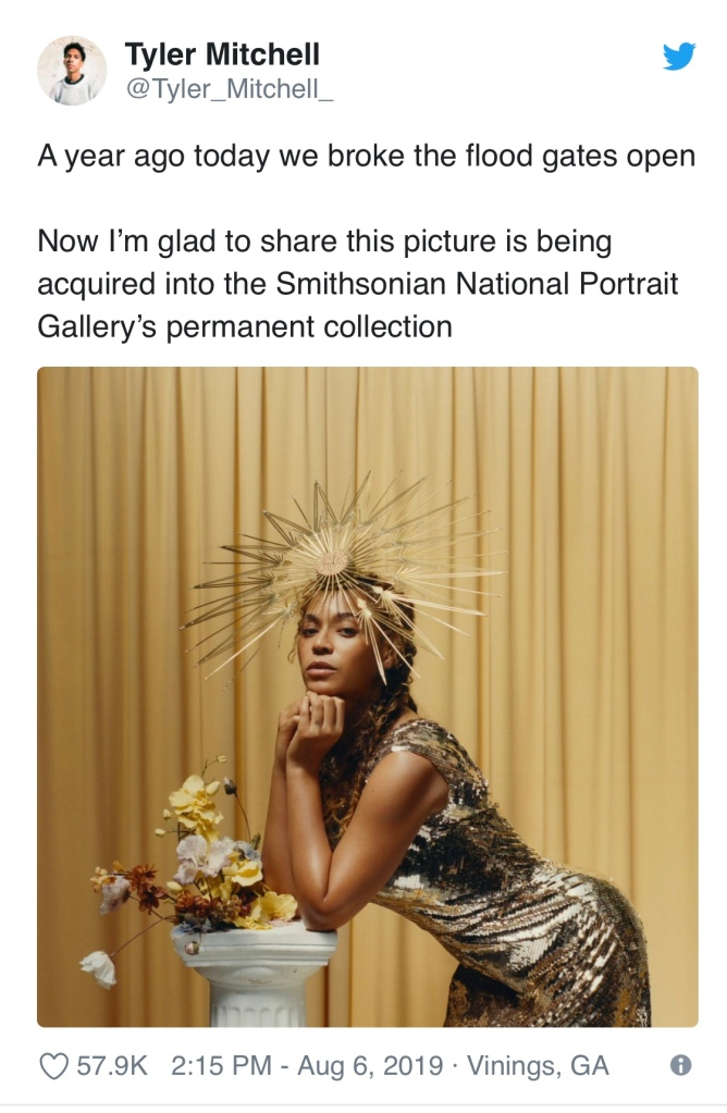 Tyler Mitchell's Beyoncé portrait to be displayed at the Smithsonian